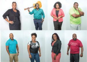 "The cast of ""Seven Guitars"" picutred are: Top row: Sonya McCarter, Roosevelt Stewart Jr., Cantrella Barton and Curtis Sheard. Bottom row: Derek Lively, Tijuanna Clemons, Shaunte N. Manuel and Cicero McCarter. VANDY MAJOR / FLORIDA WEEKLY"