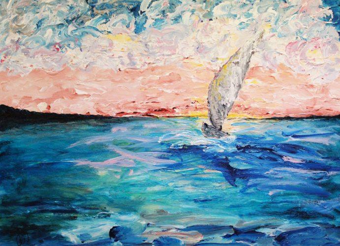 Carla Wormington- The Calm of Sunset, Acrylic