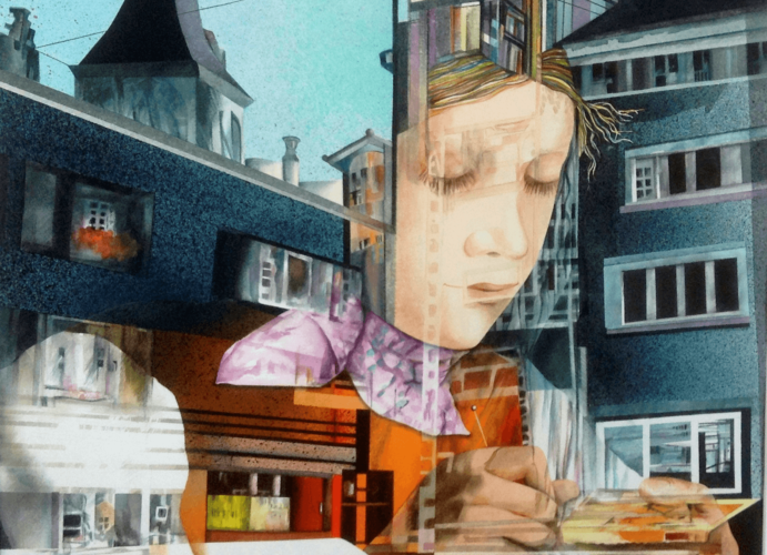 Reflections of Zurich II by Cheryl Fausel