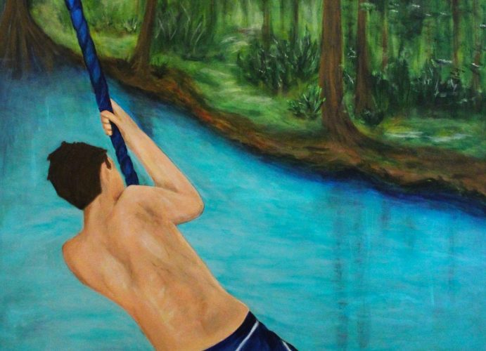 Donna Chase- Blue Rope, Acrylic