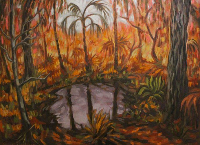Ehren Fritz- Summertime Swamp Walk Charlotte Harbor Preserve State Park, Oil