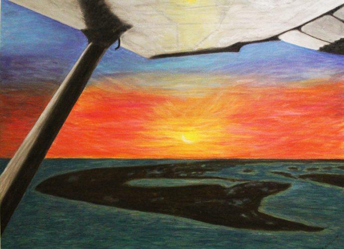 Lisa Duritsch- Final Approach, Oil Pastel