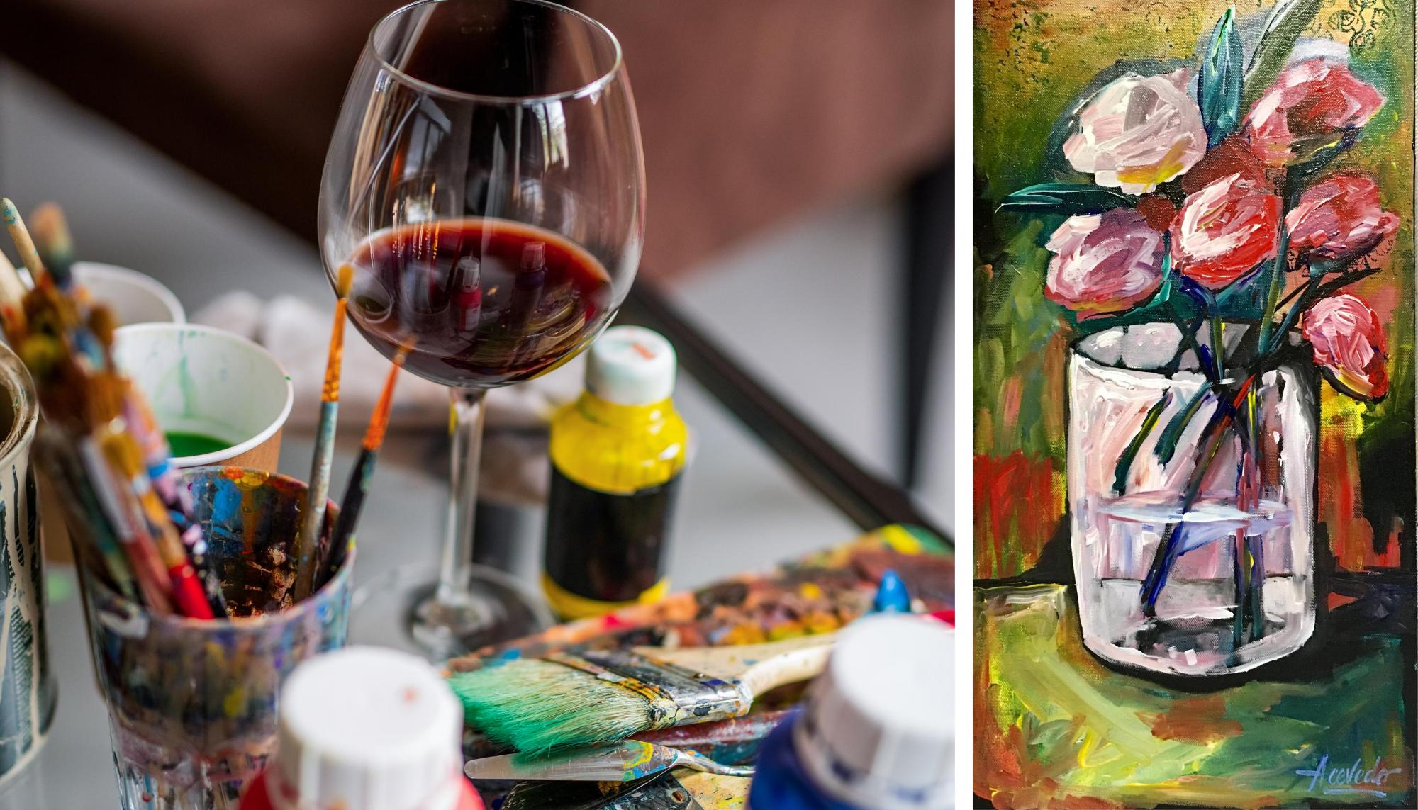 Online Wine & Paint Night with David Acevedo