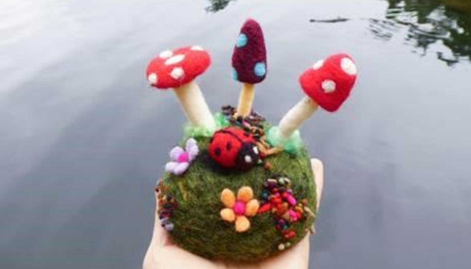Virtual Needle Felting Workshop: Good Morning Mushroom